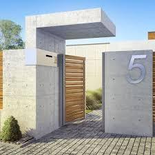 modern fence - Google Search. Fence IdeasCompound Wall DesignConcrete ...