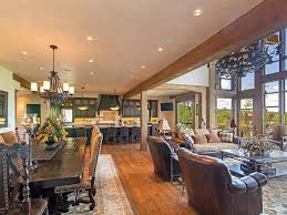 Kitchen  Open Plan Kitchen Living Room Apartment Design With Contemporary Open Plan Kitchen Living Room