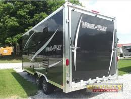 forest river work and play toy hauler travel trailer rear r