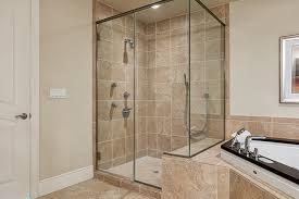 corner shower door
