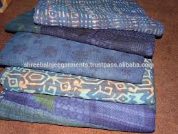 List Manufacturers of Quilted Throws Wholesale, Buy Quilted Throws ... & Indigo Blue Kantha Quilt Throw Cotton Natural Dyed Blanket Wholesale Indian  Vintage Block Printed AZO Free Colors Throw Blanket Adamdwight.com