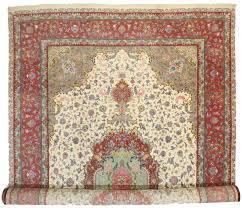 persian tabriz silk and wool 13x20 rug 10625