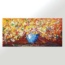 wall art abstract canvas abstract art flower painting kitchen wall art large painting canvas art modern