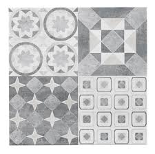 French Bathroom Tiles Lofthouse French Grey Patchwork Ceramic Wall Floor Tile Pack Of