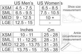 Pod Size Chart Donjoy Performance Pod Ankle Brace