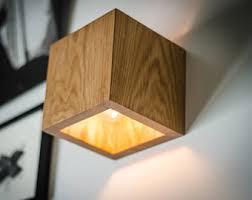 wood lighting. Wall Lamp Q#202 Handmade. Sconce. Oak Wooden Lamp. Wood Lighting