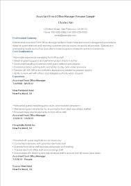 免费Assistant Front Office Manager Resume Sample | 样本文件在 ...
