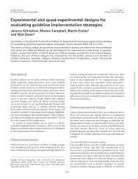 Discuss Experimental Research Design Pdf Experimental And Quasi Experimental Designs For