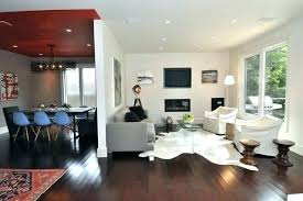 silver cowhide rug faux ide rug living room modern with accent ceiling area treatment calfskin beautiful