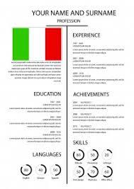 Italian Resume Template