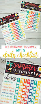 Kids Summer Checklist Free Printable By Lindi Haws Of Love The Day