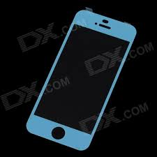 mocoll premium tempered glass screen protector for iphone 5 5s 5c navy blue