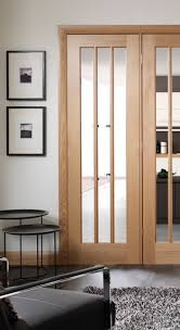 worcester 3 light internal oak door with clear glass smaller style door image