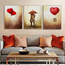 2018 vintage romantic valentine love heart balloon poster modern girl room wall art print picture canvas painting home deco no frame from lyq669  on wall art love heart with 2018 vintage romantic valentine love heart balloon poster modern