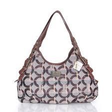 Coach Fashion Signature Medium Coffee Shoulder Bags CEP