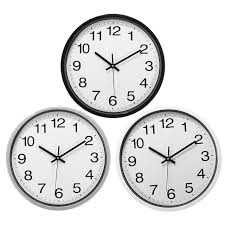 office wall clock. Charminer 12 Inch Silent Sweep Non-Ticking Wall Clock Black White Office Home Decor Gift