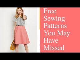Free Sewing Patterns Pdf Magnificent Free PDF Sewing Patterns You May Have Missed YouTube