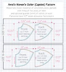 Capelet Pattern Fascinating SCA Artisan Love Lady Amie Sparrow German Cape Tutorial