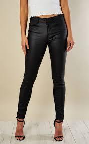 Vila Size Chart Black Coated Jean By Vila