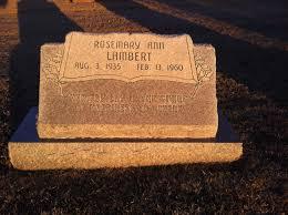 Rosemary Ann Avery Lambert (1935-1960) - Find A Grave Memorial