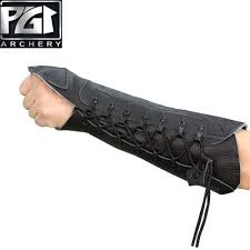 pg1archery archery arm guard for bow hunting uni leather arm hand protector bracer glove adjustable protective gear