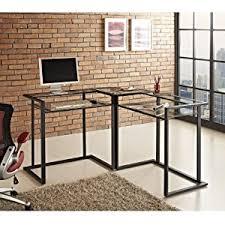 black metal glass corner computer desk black metal computer desk