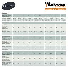 Size Guides Explained Workwear Express