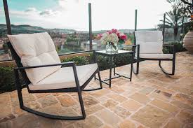 furniture dining in the garden using outdoor bistro set with