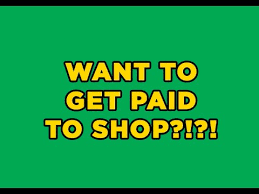 Image result for get paid to shop