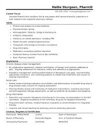 Free Download Hospital Pharmacist Resume Pharmacist Resume