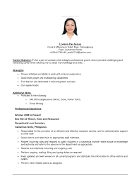 Simple Resume Objective Basic Sample Resume Objective gentileforda 1