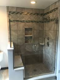 great terrific bathroom glass tile accent ideas pictures decoration ideas with half wall cap ideas