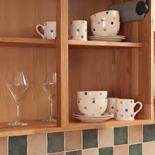 wooden kitchen wall units display