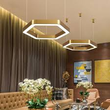 Hexanuu Hexagonal Ring Pendant Lamp