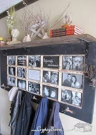 old door turned into picture frame