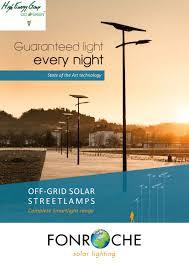 Solar StreetlightingSolar Street Light Brochure