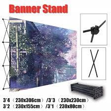 Us 73 53 41 Off 4 Sizes Aluminum Flower Wall Folding Stand Frame Wedding Backdrop Decor Banner Presentation Advertisement Display Shelf Holder In