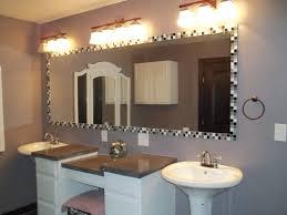 bathroom mirror frame tile. Glass Tile Mirror Frame, 2 Pedestal Sinks, Custom Vanity Bathroom Frame R