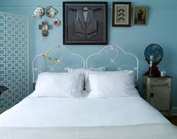 1950s decoration ideas bedroom shabby chic style with family tree wall decor blue paint on blue vintage style bedroom