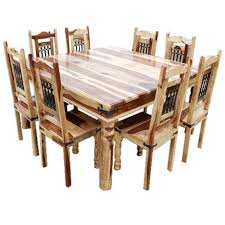 large square dining room table. Plain Square Peoria Solid Wood Large Square Dining Table U0026 Chair Set For 8 People On Room A