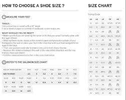 Ski Boots Size Chart Europe Salomon Shoes Size Chart