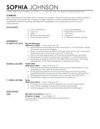 Example Of Finance Resume Example Finance Resume Finance Manager