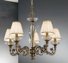 beautiful small chandelier shades 22 contarini 5 light antique brass with kolarz lighting 17660 p