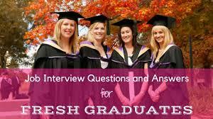 Interview Questions For New Graduates Job Interview Questions And Answers For Fresh Graduates Wisestep