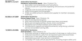Auto Mechanic Resume Templates Amazing Sample Resume Automotive Technician Sample Resume For Auto Mechanic