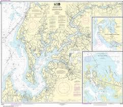 Noaa Nautical Chart 12272 Chester River Kent Island Narrows Rock Hall Harbor And Swan Creek