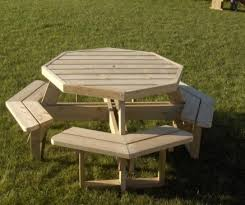 8 seater octagonal picnic table