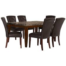 Rectangle Dining Room Tables City Lghts Rect Marble Table 4 Uph Chrs