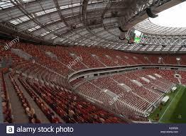 Moscow Russia August 29 2017 Seats At Luzhniki Stadium