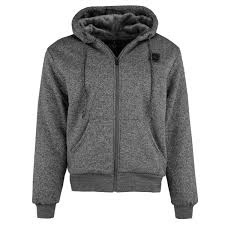 details about mens fur lined zip up marl hoo jumper sweatshirt hooded fleece jacket size